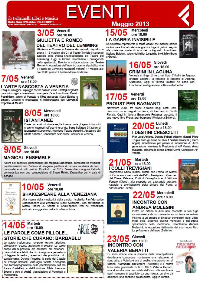 Presentazione Feltrinelli Mestre 15 Maggio 2013